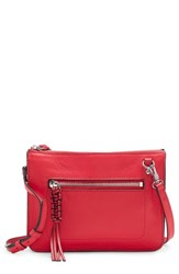 Vince Camuto Aylif Leather Crossbody Bag Red Fruit Punch