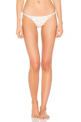 Wildfox Couture Daisy Mesh Zooey Triangle Bottom White