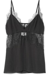 Cami Nyc The Kinley Lace Trimmed Silk Charmeuse Camisole Black