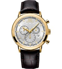 88 Rue Du Rhone 87Wa154206 Double 8 Origin Yellow Gold Plated And Leather Watch