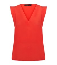 Maje Lustra Silk Shell Top Female Red