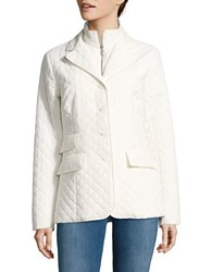 Jane Post Quilted Riding Jacket White