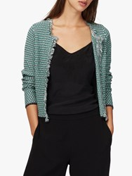 Brora Cotton Textured Knit Jacket Shale Spearmint