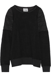 Oak Quilted Cotton Jersey And Fleece Sweatshirt Black