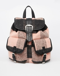 Asos Check Backpack Multi