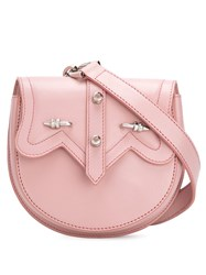 Okhtein Dome Belt Bag Women Leather One Size Pink Purple