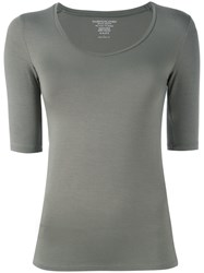 Majestic Filatures Scoop Neck T Shirt Grey