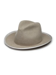 Super Duper Hats The Duke Rabbit Fur Felt Fedora Light Grey