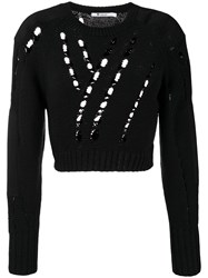 Alexander Wang T By Cropped Knit Jumper Black