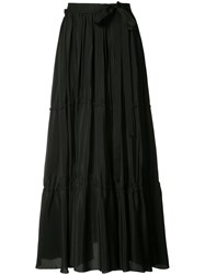 Tome Pleated Skirt Women Silk Xs Black