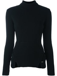 Dsquared2 Roll Neck Panelled Jumper Black