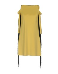 Dv Roma Short Dresses Yellow