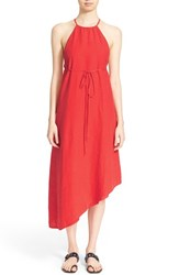 Women's Tomas Maier Asymmetrical Hem Washed Linen Sundress