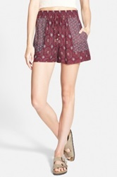 Jolt Print Woven Shorts Juniors Red