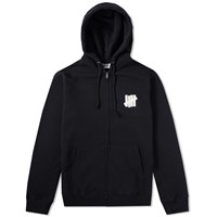 Undefeated Chest Strike Zip Hoody Black