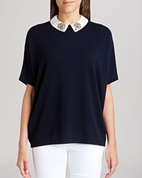 Ted Baker Sweater Ulsey Embellished Collar Cashmere Blue