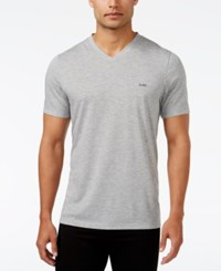 Michael Kors Men's Arlington V Neck T Shirt Grey Heather