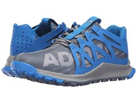 Adidas Vigor Bounce Grey Onix Shock Blue Men's Running Shoes Gray