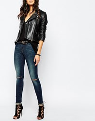 Noisy May Lucy Super Skinny Jeans Blue