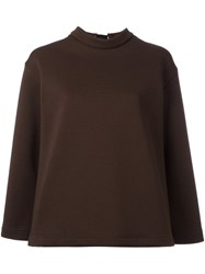 Marni Open Back Blouse Brown
