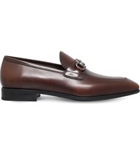 Salvatore Ferragamo Giant Horsebit Leather Loafers Brown