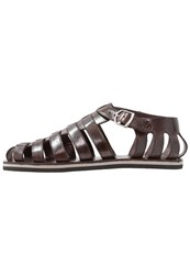 Melvin And Hamilton Sandals Classic Dark Brown