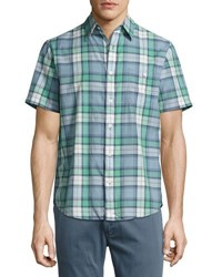 Faherty Seaview Short Sleeve Plaid Print Shirt Multi