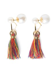 Pixie Market Pearl Tassel Double Ended Earrings
