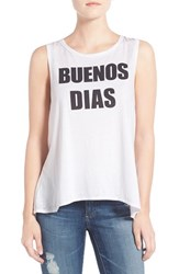 Women's Chaser 'Buenos Dias' Graphic Muscle Tank