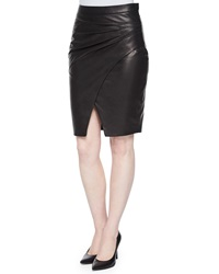 L'agence Karen Pleated Side Faux Leather Skirt