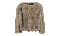Whistles Colby Faux Fur Cropped Jacket Multicolour
