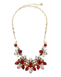 Lydell Nyc Statement Crystal Cluster Bib Necklace Multi