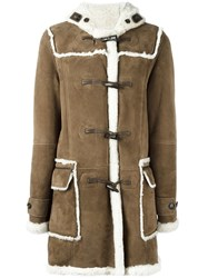 Liska Shearling Duffle Coat Brown