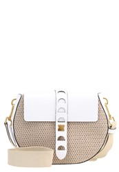 Coccinelle Carousel Across Body Bag Naturale Bianco White