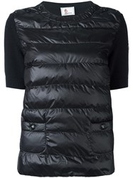 Moncler Grenoble Padded Front Knitted Top Black