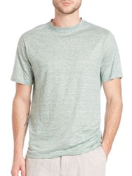 Saks Fifth Avenue Linen Jersey Tee Green Blue