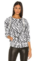 N Philanthropy Sicily Sweatshirt In White. Zebra
