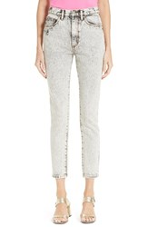 Marc Jacobs Women's Overdyed Bleach Stovepipe Jeans