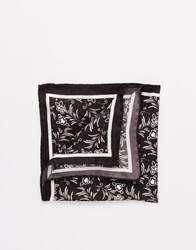 Noose And Monkey Italian Silk Pocket Square Black