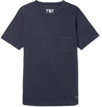 The Workers Club Cotton Jersey T Shirt Navy