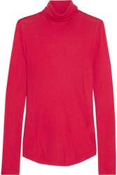 J.Crew Tencel And Cashmere Blend Turtleneck Sweater Crimson