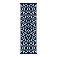Hibernica Cyclades Blue Diamonds Vinyl Floor Mat