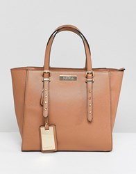 Carvela Studded Winged Tote Bag Tan