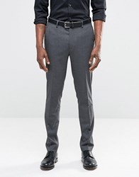 Asos Skinny Suit Trousers In Charcoal Charcoal Grey