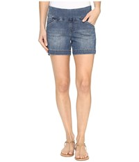 Jag Jeans Ainsley Pull On 5 Shorts Comfort Denim In Weathered Blue Weathered Blue Women's Shorts Navy