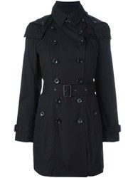 Burberry Padded 'Reymoore' Trench Coat Black