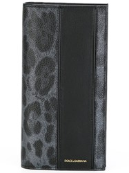 Dolce And Gabbana Leopard Print Long Cardholder Grey