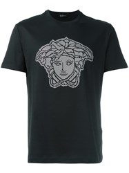 Versace Studded Medusa Head T Shirt Black