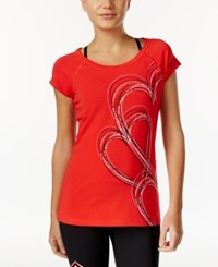 Ideology Heart Graphic T Shirt Only At Macy's Hot Chili