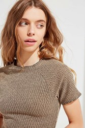 Urban Outfitters Uo Claire Cropped Top Multi